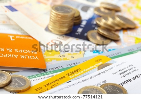fly tickets and money