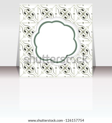 Flyer design with empty abstract cloud, raster