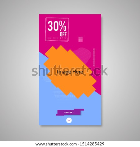 Flyer layout template - minimal modern design background in blue color with black, peach circle shape. Suitable for social media post, Red flyer, story, flyer.