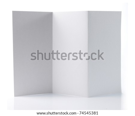 Flyer with zig zag Z-Fold. isolated over white background