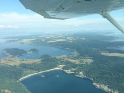 Flying a small airplane scenic