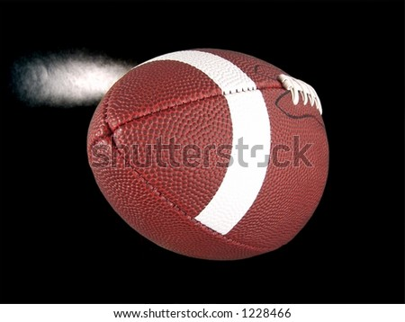 Flying American Football (With Steam)