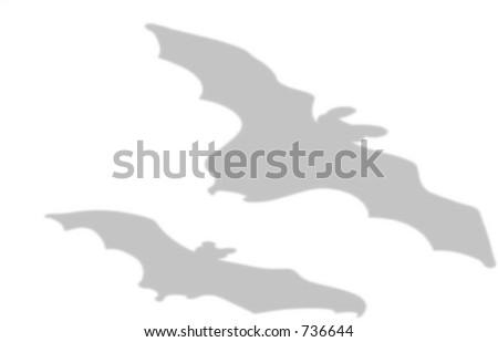 Flying bats shadow.