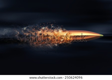 Flying bullet with dust trail Сток-фото ©