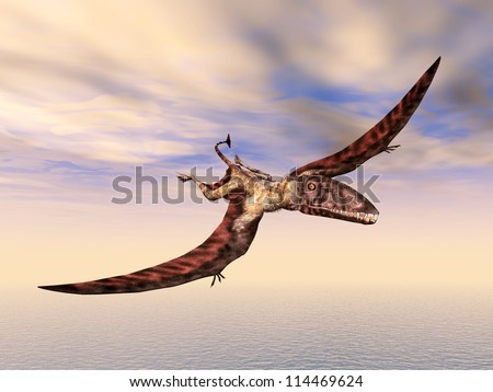 Flying Dinosaur Dimorphodon Computer generated 3D illustration