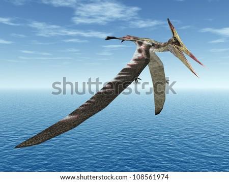 Flying Dinosaur Pteranodon Computer generated 3D illustration