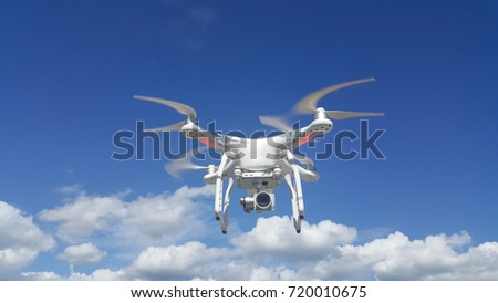 flying drone or flying drone image use for drone background #720010675