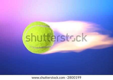 Flying Fire Tennis Ball