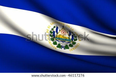 Flying Flag of El Salvador | All Countries Collection |