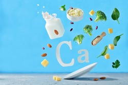 Flying foods rich in calcium. Healthy eating