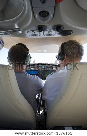 Flying in an aircraft - vertical