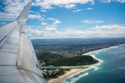 Flying into Coolangatta, Gold Coast, Australia