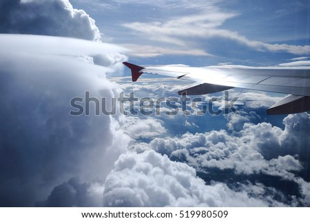 Flying into the clouds #519980509