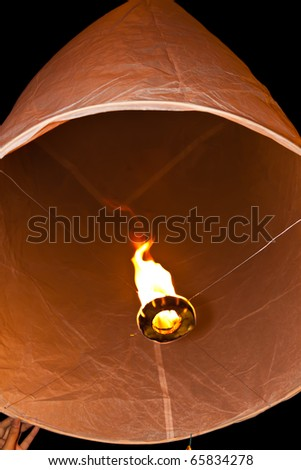 Flying lantern in Chiang mai north Thailand