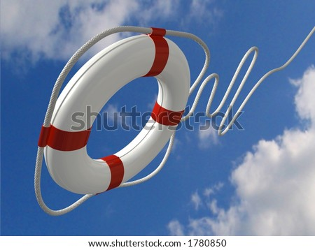 Flying life preserver for first help