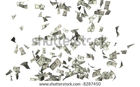 Flying money illustration