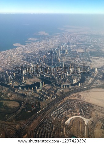 Flying over Dubai #1297420396