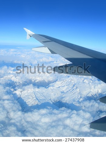 Airplane Wing View