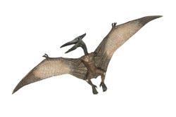 flying pterodactyl prehistoric dangerous creature of Jurassic period