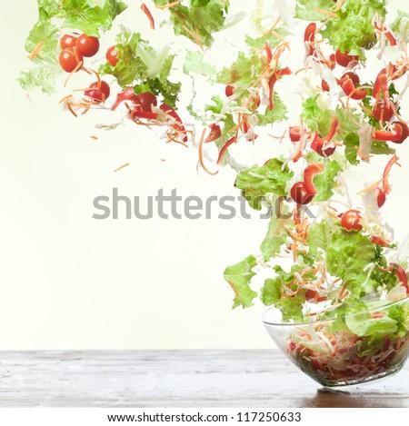Flying salad.