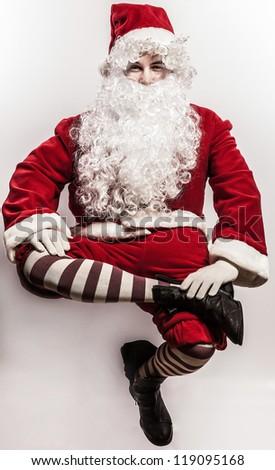 Flying Santa Claus.