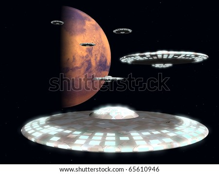 Flying saucers from Mars