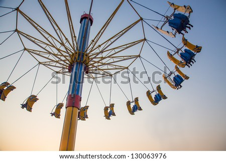 Flying Swing in Theme Park