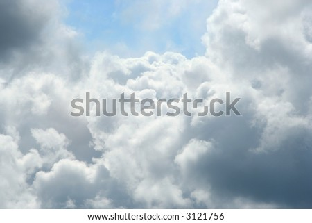 Flying Through the cumulus clouds