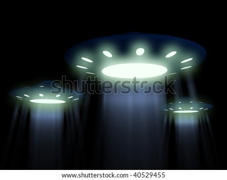 flying UFO. 3D