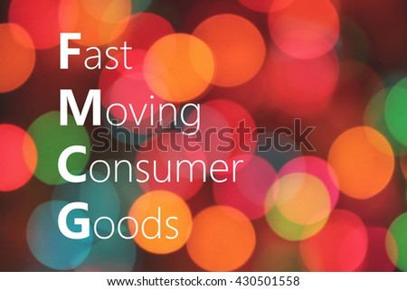 FMCG (Fast Moving Consumer Goods) acronym. business concept #430501558