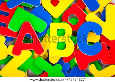 Foam ABC Letters with Other Letters on the Background #745754827