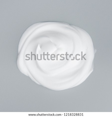 Foam bubble on gray background on top view object beatuy health care concept design