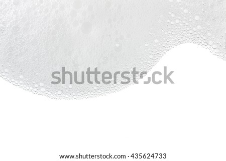 Foam bubbles abstract white background. Detergent #435624733