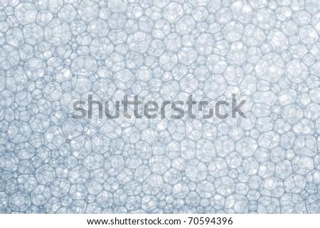 Foam bubbles macro texture