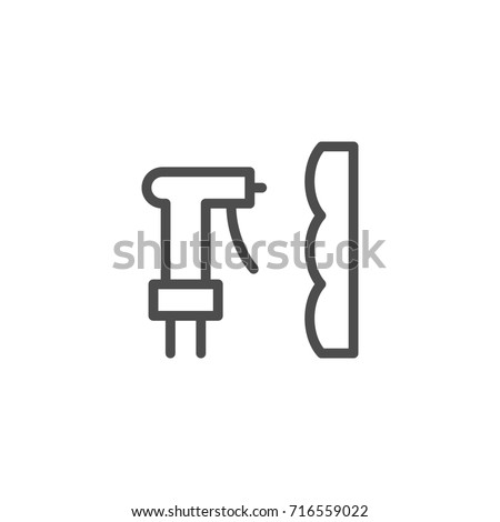 Foam insulation line icon isolated on white