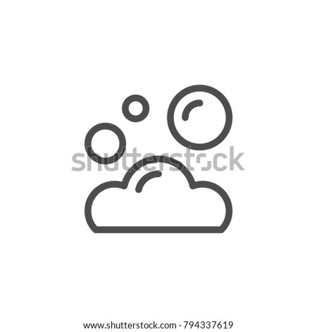 Foam line icon isolated on white