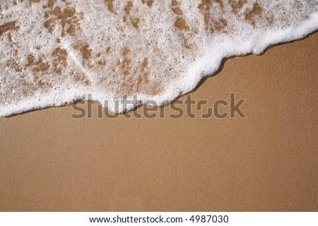 foam on sand #4987030