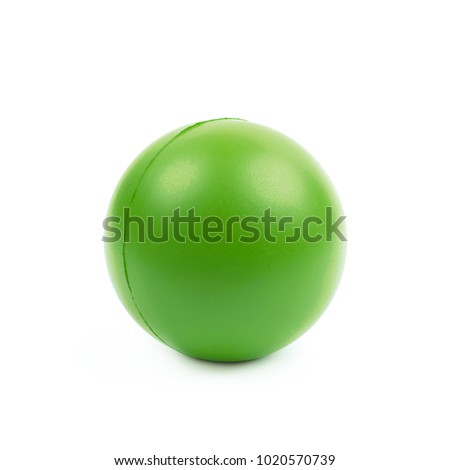 Foam stress ball isolated over the white background #1020570739