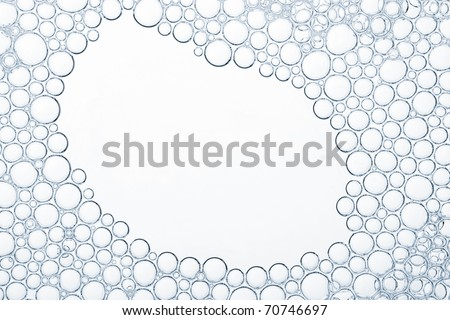 Foam texture with empty space - stock photo
