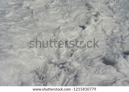 Foaming sea water #1215830779
