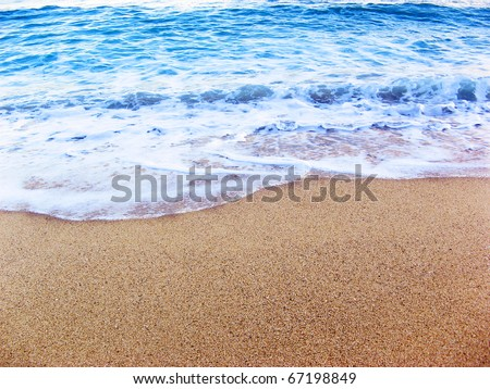 Foamy sea shore at the beach, close up #67198849