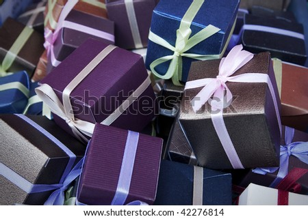 focus group of gifts - stock photo