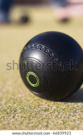 Focus On A Lawn Bowls Ball With A Low Depth Of (The) Field
