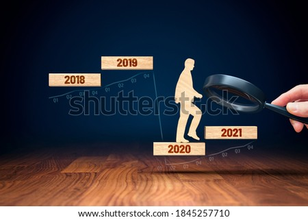 Focus on business and economy growth concept in post covid-19 era. Secretary of the treasury (politician) stimulate economy for GDP growth in year 2021.