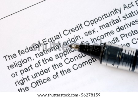 Focus on the details about the Federal Equal Credit Opportunity Act