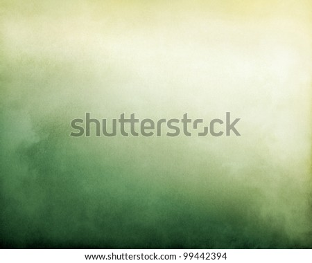 Fog and clouds on a green to yellow textured gradient background.  Image displays a pleasing paper grain and texture at 100%.