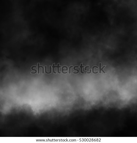Fog and mist effect on black background.