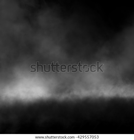 Fog effect on black background.