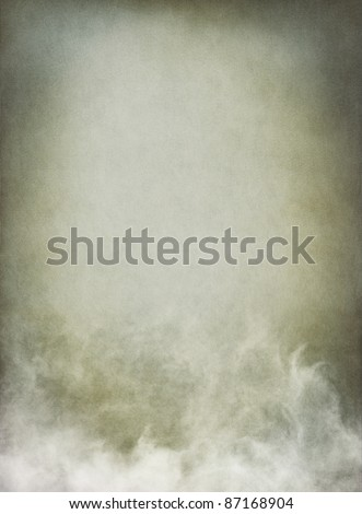 Fog, mist, and clouds with subtle gray tones.  Image has a pleasing paper texture and grain pattern visible at 100%. - stock photo