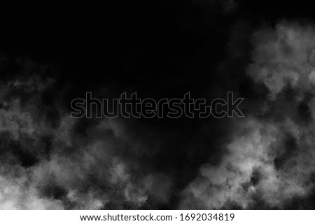 Fog on a black background.